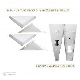 Triangles de renfort Coffre Clim Aluminium