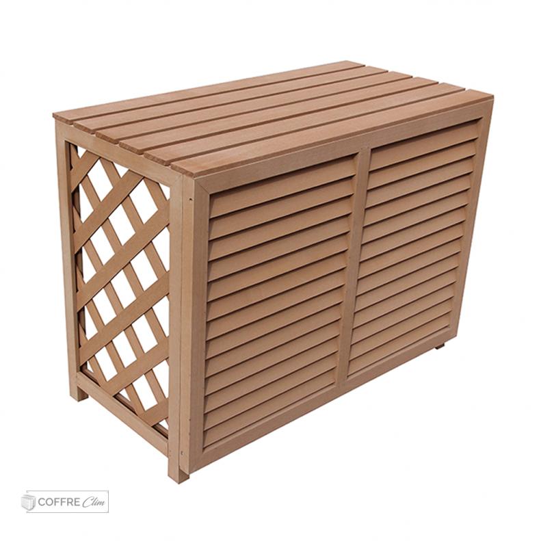 cache clim au sol en bois composite pelican. Black Bedroom Furniture Sets. Home Design Ideas