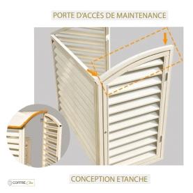 Habillage climatiseur extérieur avec porte d'accès pour la maintenance - Coffre étanche