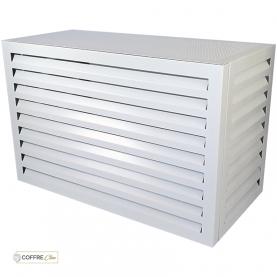 Cache climatiseur extérieur en aluminium Blanc - Cache clim alu - Cache climatisation