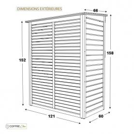 Cache Climatisation Rossignol dimensions extérieures