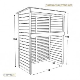 Cache Climatisation Rossignol dimensions intérieures