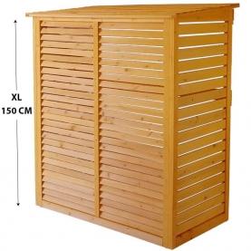 Cache groupe extérieur de climatisation en bois XL