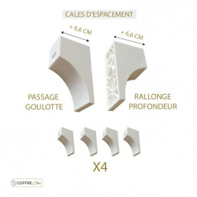 Cales d'espacement Blanches