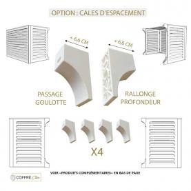 Option : cales d'espacement - rallonge + 6,6cm de profondeur