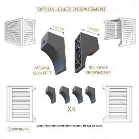 Option : cales d'espacement - rallonge la profondeur de +6,6 cm