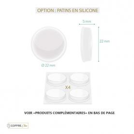 Option : patins silicone pour pose au sol